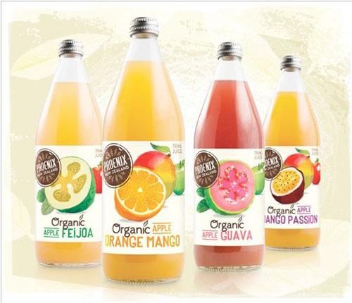 新西兰phoenix原味系列果汁饮料包装设计欣赏